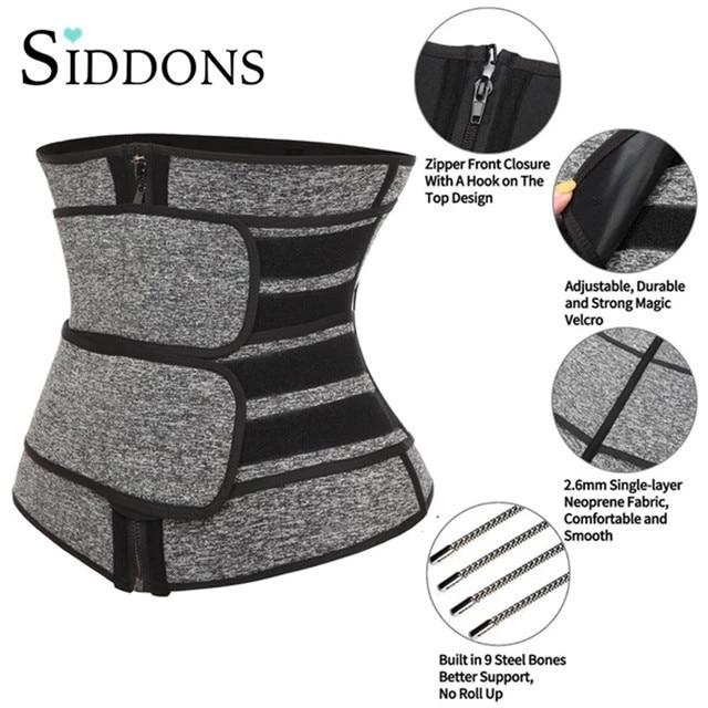 HOT Neoprene Sweat Waist Trainer Corset Trimmer Belt for Women Weight Loss Waist Cincher Shaper Slimmer Fajas Corset 1
