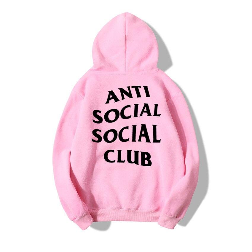 AliExpress Hot Selling Anti Social Club Hoodie Men's Cotton Fleece Sports Hoodie