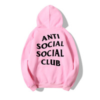 AliExpress Hot Selling Anti Social Club Hoodie Men's Cotton Fleece Sports Hoodie