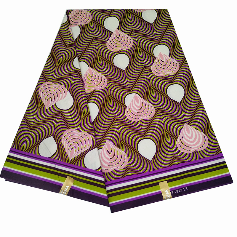 6Yard African Ankara Prints Fabric Cotton Real Wax Patchwork Fabric For Women Nederlands Dress Making Z613