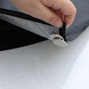 Image 2 - Güçlü mıknatıslı araba kar blok kapak gümüş bez manyetik kar buz kalkanı cam kış araba ön pencere