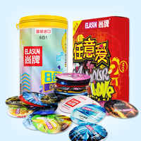 ELASUN 40 unids/lote preservativos de látex natural hilo G spot condones ultra delgados para hombres juguetes sexuales de pene manga elasun 40 adulto