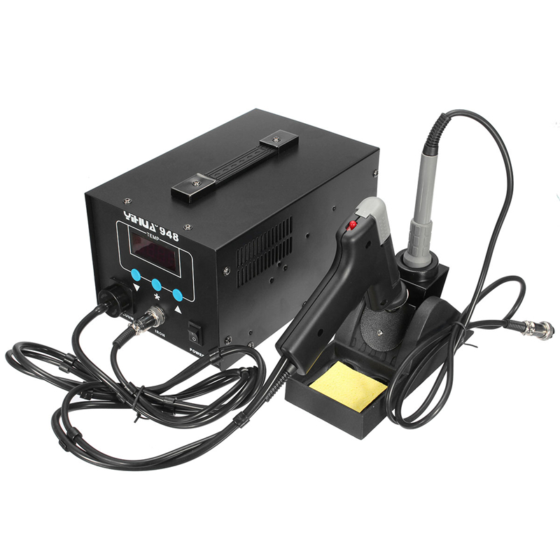 Mini Digital Soldering Station+Hot Air Guns Electronic Welding Iron Soldering Iron Rework Desoldering Station YIHUA-948 220V