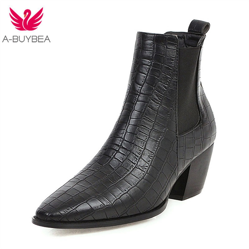 New Cowgirl Fashion Snake Printed Zip Block Heels Ladies Shoes Boats Mujer Chunky Western Ankle Boots Cool Cowboy Boot for Women