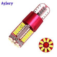 Ayjery 8 pçs w5w led canbus bulbo luzes do carro t10 57smd w5w 12 v 3014 luzes de automóvel marcador luz estacionamento lâmpada cunha motor estilo do carro