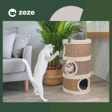 Pet cat sisal barrel cat climbing frame cat litter cat tree cat grinding claw cat villa cat toy home cat supplies pet supplies cat whys