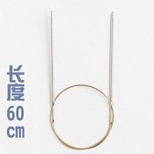 Addi 105-7 60 см фиксированной круговой кружево Вязание иглы с особо острые золотые советы 1,5 мм 1,75 мм 2,0 мм 2,25 мм 3,0 мм, 4 мм, 5 мм, 7 мм, 8 мм