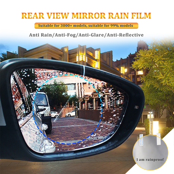 Car Rearview Mirror Rainproof Film For BMW E36 E39 F46 E90 E91 F10 F20 F30 M 1 2 3 5 Series Anti Rain Waterproof Protect Sticker image
