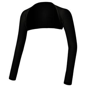 Image 4 - Delle donne Musulmano vestito di Un Pezzo Lungo di Spalla Maniche Scialle Braccio di Copertura Scrollata di Spalle Crop Top Modale Bolero Stile Islamico Hijab Accessori