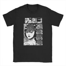 Uzumaki Junji Ito T Shirt Horror Manga Tshirt T-Shirts for Men Short Sleeve Novelty Tees Pure Cotton Clothes Designs Shirts