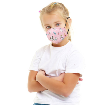 Kids Face Mask With 5 Layer Filter Respiratory Valve Child Mouth Mask Anti-Dust PM2.5 Breathable Washable Mask Cover
