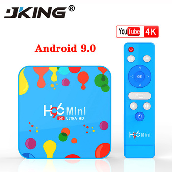 JKING 4GB 128GB H96 Mini Android 9.0 TV Box Allwinner H6 Quad Core 6K H.265 Wifi netflix Youtube Set top box H96mini 4GB32GB