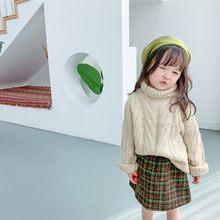 New autumn Korean style long-sleeved turtleneck cute loosen thick warm sweaters for girls