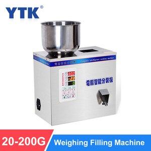 Image 1 - YTK 200G Granulat Pulver Füllung Maschine Automatische Wiegen Maschine Mispel Verpackung Maschine für Tee Bean Samen Partikel