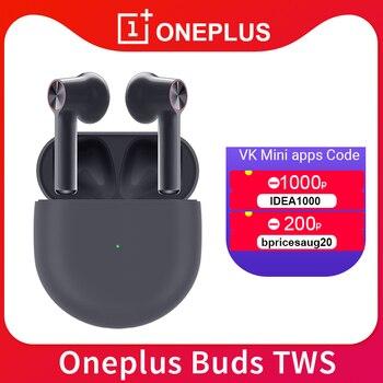 Перейти на Алиэкспресс и купить Беспроводные наушники OnePlus Buds TWS Bluetooth 5,0, шумоподавление для Oneplus 7 7Pro 7t 8 8Pro Nord