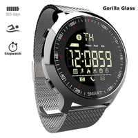 Relógio inteligente de aço de luxo masculino feminino relogio inteligente ip68 mergulho para apple/lenovo/xiaomi/huawei pk smartwatch x/l8/b57 não
