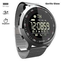Reloj Inteligente de acero de lujo hombres mujeres reloj Inteligente IP68 buceo para Apple/Lenovo/xiaomi/Huawei PK Smartwatch X/L8/B57 no