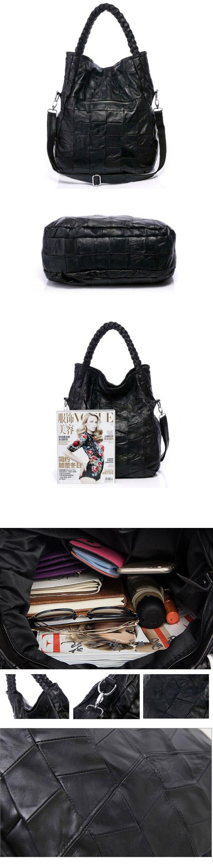 Venda quente bolsas femininas retro real pele