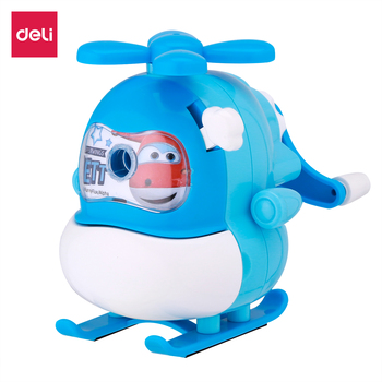 DELI ER10904 Rotary Pencil Sharpener Helicopter cute sharpener color fun gift stationery playful student school supply deli stationery pencil sharpener office