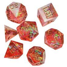 Новый игральные кости Dnd набор высококлассные смолы многогранные кубики 7 шт./компл. ролевые игры в кости dadi dados РОЛ D4 D6 D8 D10 D12 D20