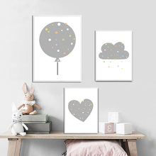 Cartoon Posters And Prints Balloon Wall Pictures Love Canvas Painting Nordic Style Nursery Art Poster Kids Room Home Decor