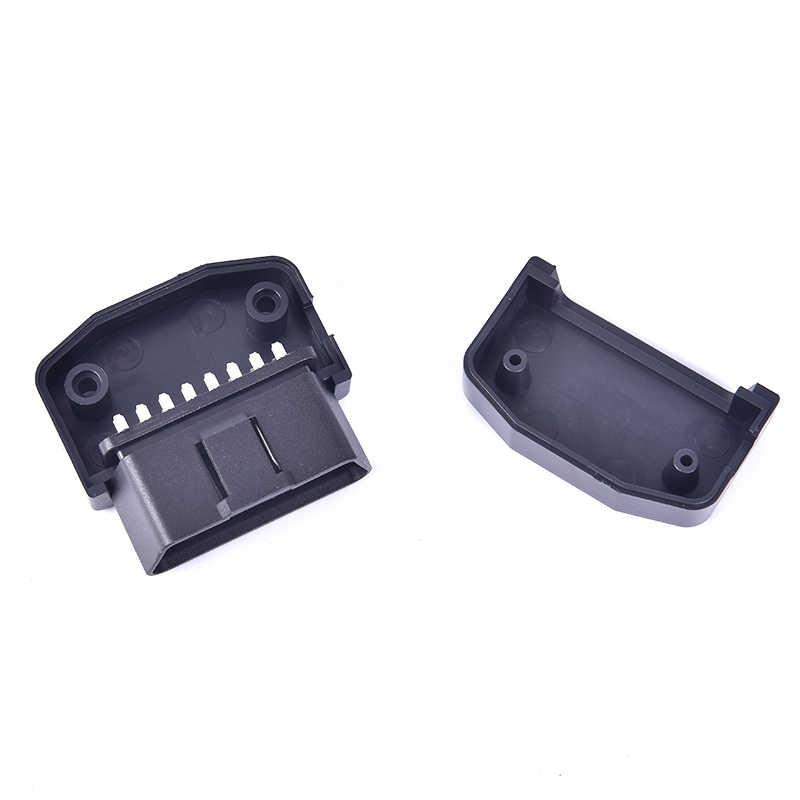 رائجة البيع OBD2 L نوع 16 دبوس مآخذ موصل التوصيل مع قذيفة والمسمار ذكر السيارات موصِّل سيارة سلك كابل
