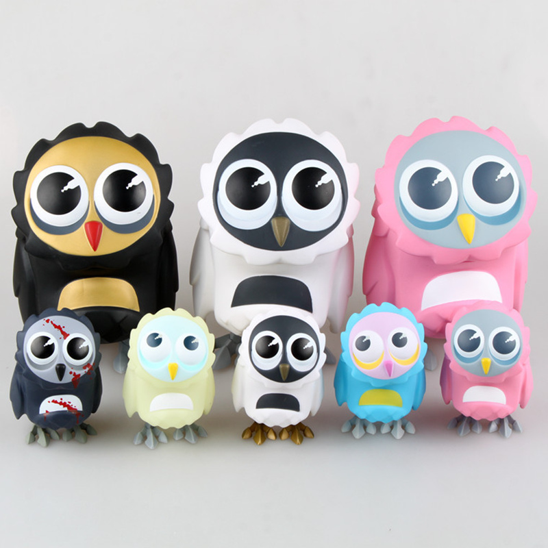 Coarse Lovely Owl Series Toy Cute Animal Model Coarsetoys Omen Figma Action Figure Toys image