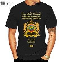 Camiseta unisex padrão do reino de marrocos
