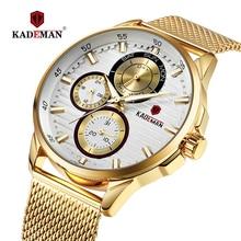 KADEMAN Mens Watches Waterproof Military Sports Quartz Top Brand Alloy Thin Male Wristwatches Relogio Masculino