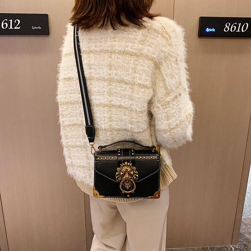 H6d6d1d1c2c9a470c95b345667c30d707r - Female Fashion Handbags Popular Girls Crossbody Bags Totes Woman Metal Lion Head  Shoulder Purse Mini Square Messenger Bag