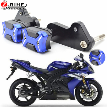 Motorcycle Accessories CNC Aluminum Frame Crash Pads Engine Case Sliders Protector Pour For Yamaha YZF1000 YZF 1000 R1 2009-2014