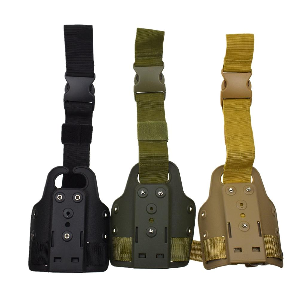 Hunting Gun Accessories Tactical Drop Leg Platform Thigh Holster Paddle Adapter for SIG P226 P220 USP Compact Glock 17 Safa Case