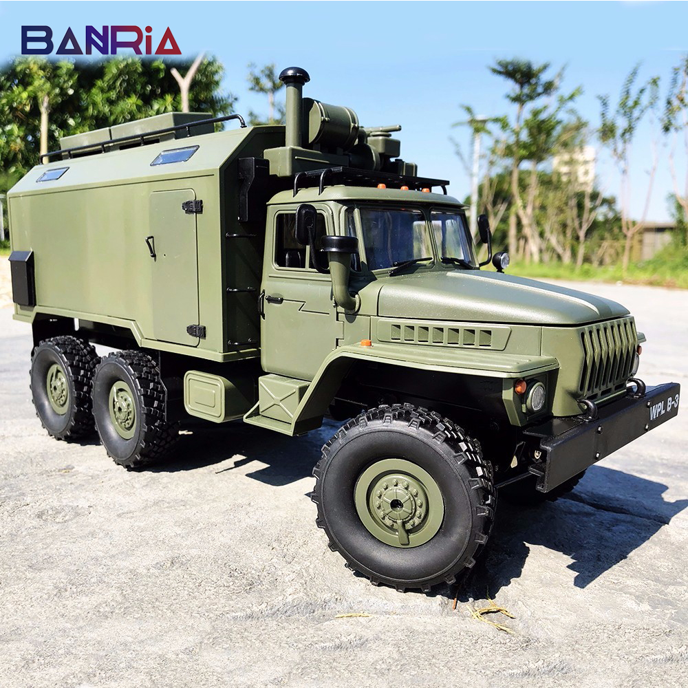 WPL RC Truck B36 Ural 1/16 2.4G 6WD Military Truck Rock Crawler Remote Control Car Hobby Toys for Boy carro eletrico-in RC Trucks from Toys & Hobbies    1