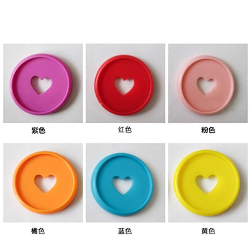 30PCS 35mm Colorful Heart Binder Rings Mushroom Hole Loose Leaf Ring Round Binding Plastic Disc Buckle Hoop DIY Binder Notebook