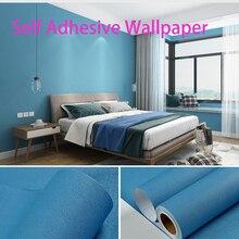 1M*60cm Modern Nordic pure color simple self-adhesive waterproof PVC wallpaper l