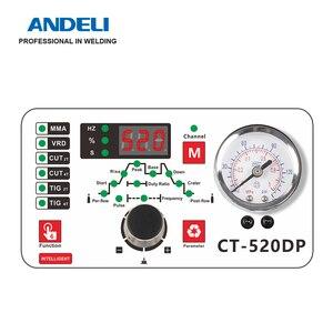 Image 2 - ANDELI الذكية المحمولة مرحلة واحدة آلة لحام CT 520DP 3 في 1 متعددة الوظائف لحام مع قطع/MMA/نبض/ماكينة لحام بغاز التنجستين الخامل آلة لحام