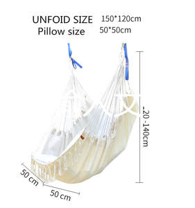 Chair-Tassel Pillows Safe Outdoor And Adult with Hanging Hammock Nordic-Style Leisure