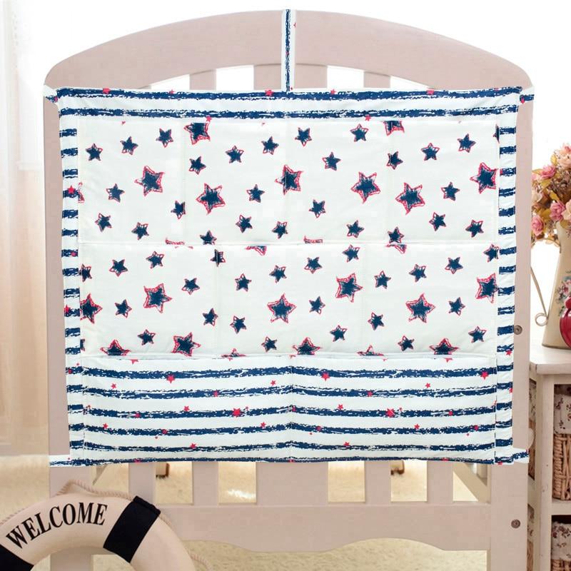 Free Shipping New Baby Cot Bed Hanging Storage Bag Crib Organizer Storage Bag 60*50cm Toy Diaper Pocket For Crib Bedding Set
