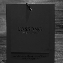 1000 компл./лот заказной логотип вешалки одежды/сумки/бирка на обувь Черная бумажная коробка горячего тиснения