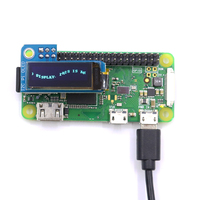 1Pcs Pioled 0.91 Inch IIC I2C 128x32 OLED Monochrome Screen Add-on for Raspberry Pi Zero SSD1306 Blue DC 3.3V FZ3579
