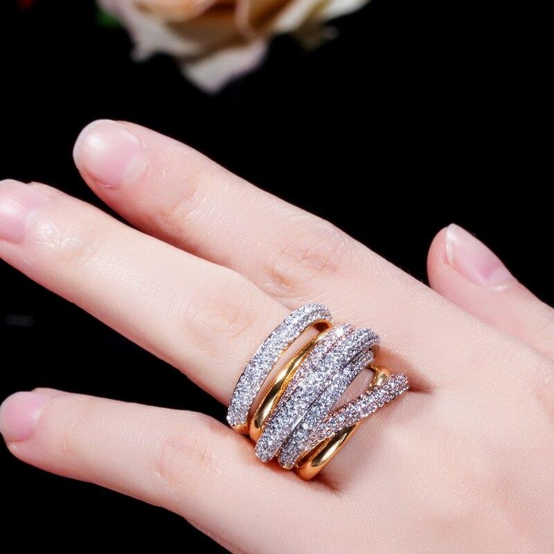 tons ouro geometria zirônio cúbico grande casamento