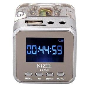 Image 5 - 新ポータブルミニスピーカーデジタル音楽MP3/4プレーヤーマイクロsd/tf usbディスクスピーカーfmラジオlcdディスプレイ 20