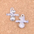 16pcs Charms I love softball 21x19mm Antique Pendants,Vintage Tibetan Silver Jewelry,DIY for bracelet necklace