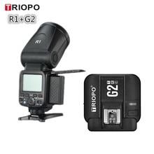 Triopo R1 камера Вспышка Speedlite 2,4G X Беспроводная ttl HSS круглая головка вспышка с G2 триггер для Canon Nikon VS V1C