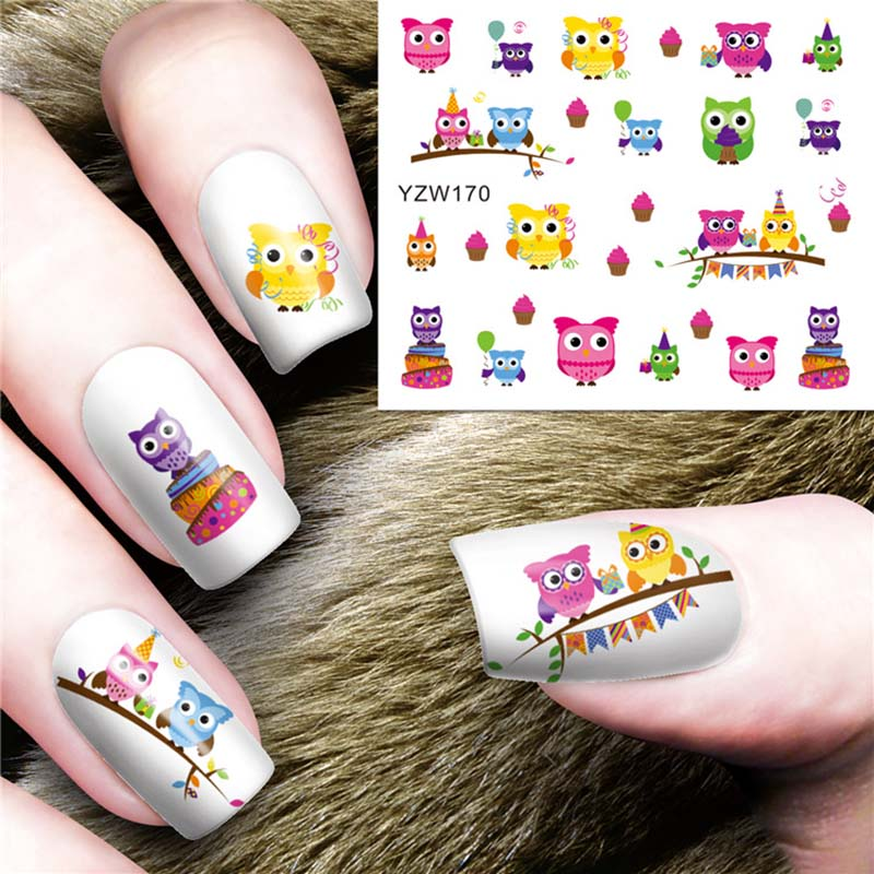 Купить водные переводные картинки для украшения ногтей 3d маникюр цветок