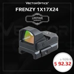 Vector Optics Frenzy 1x17x24 Red Dot Scope Pistol Handgun Sight IPX6 Water Proof Fit 21mm Picatinny GLOCK 17 19 9mm AR15 M4 AK