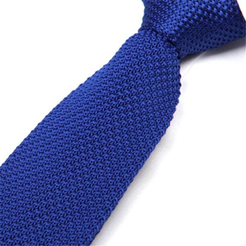 Hot 2019 Fashion Men Ties Solid Color Male Slim Knitted Ties Neck Ties Cravate Narrow Skinny Neckties New