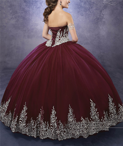 Image 5 - Quinceanera Dresses 2020 Sweep Train Sweetheart Neckline Appliques Embroidery Pageant Gown Luxury Crystal Corset Sweetheart 16
