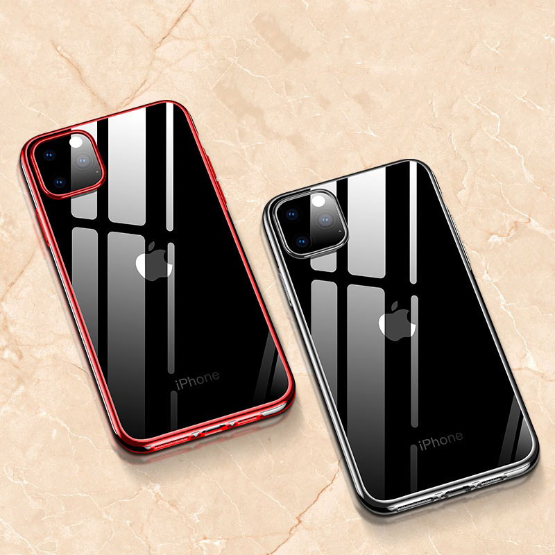 Oppselve Plating Cover for <font><b>iPhone</b></font> 11 Pro Max Transparent <font><b>Sillicone</b></font> Back <font><b>case</b></font> for <font><b>iPhone</b></font> 11 Pro Max Luxury Shockproof Coque image