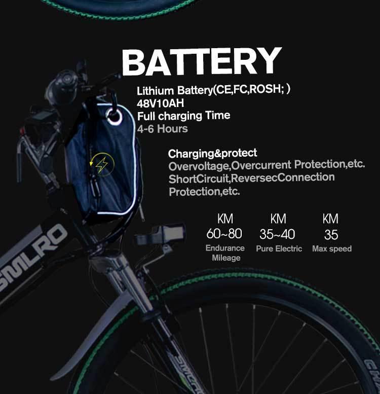 MX300 2019 New Design 350W/500W/750W/1000W 48V 10AH/13AH electric bicycle 26 inch folding electric bike with high quality 7